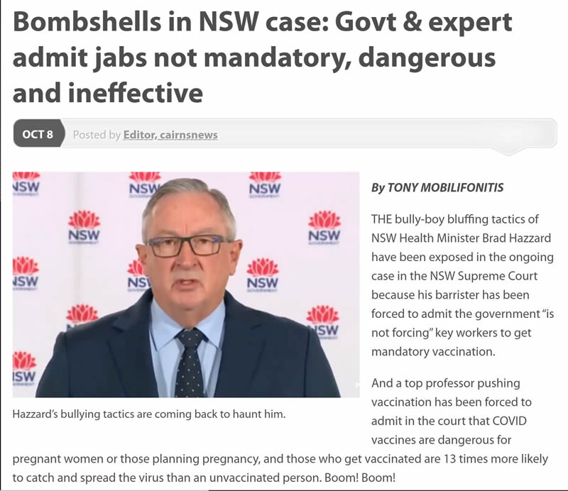 Bombshell in NSW Supreme Court 1